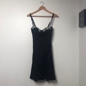 Vintage Marciano Silk Jeweled Slip Dress Size S